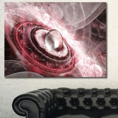 Designart Crystal Rotating Flying Saucer Floral Canvas Art Print