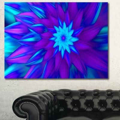 Designart Dance Of Blue Flower Petals Floral Canvas Art Print