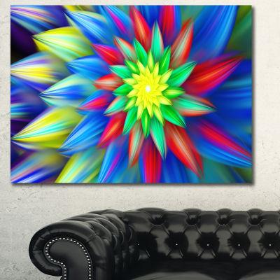 Designart Dance Of Bright Multi Color Flower Floral Canvas Art Print - 3 Panels