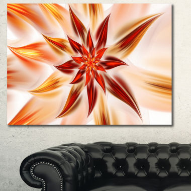 Designart Dance Of Brown Exotic Flower Floral Canvas Art Print
