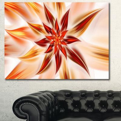 Designart Dance Of Brown Exotic Flower Floral Canvas Art Print - 3 Panels