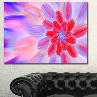 Designart Dance Of Fractal Pink Petals Abstract Wall Art Canvas - 3 Panels