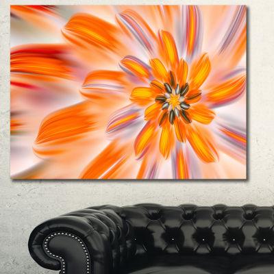 Designart Dance Of Fractal Yellow Petals AbstractWall Art Canvas - 3 Panels