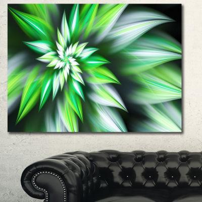 Designart Dance Of Green Exotic Flower Floral Canvas Art Print - 3 Panels