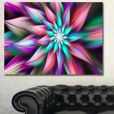 Designart Dance Of Multi Color Exotic Flower Floral Canvas Art Print