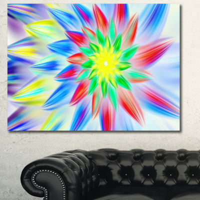 Designart Dance Of Multi Color Petals Floral Canvas Art Print