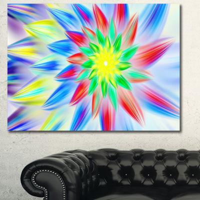 Designart Dance Of Multi Color Petals Floral Canvas Art Print - 3 Panels