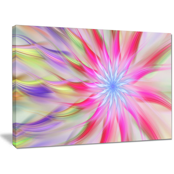 Designart Dance Of Pink Exotic Flower Floral Canvas Art Print