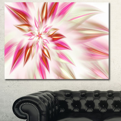 Designart Dance Of Red Exotic Flower Floral CanvasArt Print - 3 Panels