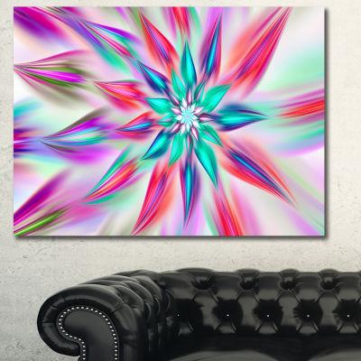 Designart Dancing Pink Flower Petals Floral CanvasArt Print