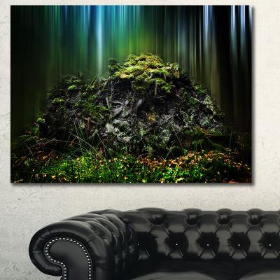 Designart Dark Forest On Snowy Morning Landscape Canvas Art Print - 3 Panels