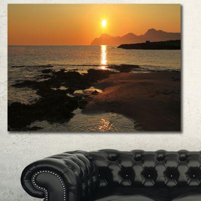 Designart Dawn On Majorca Panorama Landscape Canvas Art Print