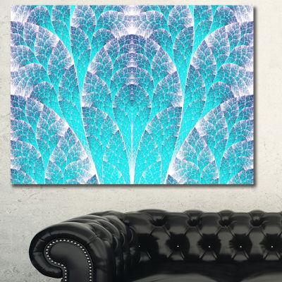 Designart Exotic Blue Biological Organism AbstractArt On Canvas - 3 Panels