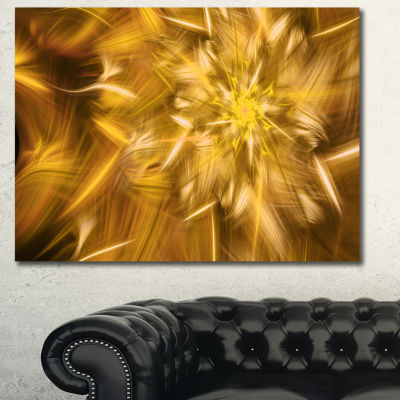 Designart Exotic Dance Of Golden Flower Petals Floral Canvas Art Print