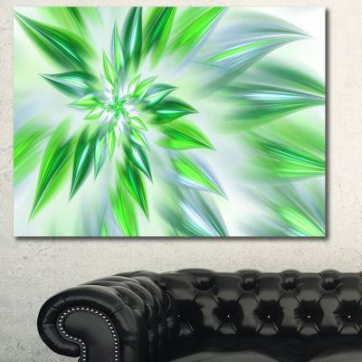 Designart Exotic Dance Of Green Petals Floral Canvas Art Print