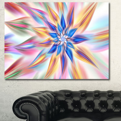 Designart Exotic Dance Of Multi Color Petals Floral Canvas Art Print