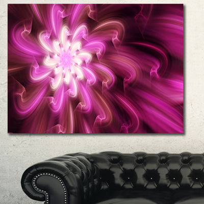 Designart Exotic Dance Of Purple Flower Petals Floral Canvas Art Print - 3 Panels