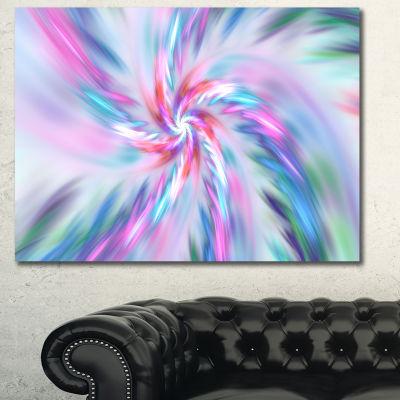 Designart Exotic Light Blue Flower Petal Dance Floral Canvas Art Print - 3 Panels