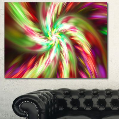 Designart Exotic Multi Color Flower Petal Dance Floral Canvas Art Print - 3 Panels