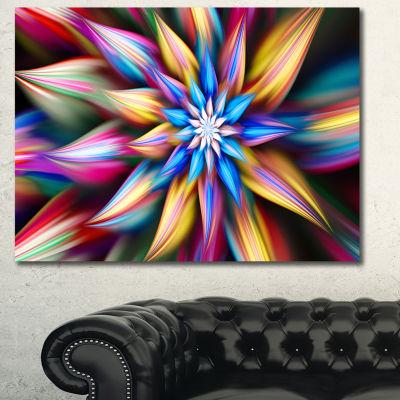 Designart Exotic Multi Color Flower Petals FloralCanvas Art Print - 3 Panels