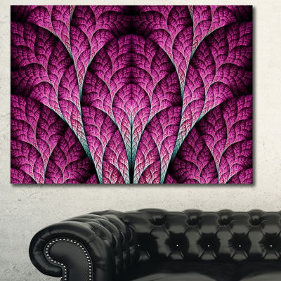 Designart Exotic Pink Biological Organism AbstractArt On Canvas - 3 Panels