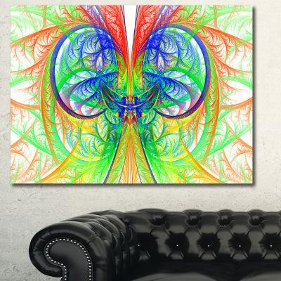 Designart Extraordinary Fractal Green Design Abstract Canvas Art Print - 3 Panels