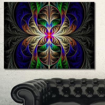 Designart Fabulous Multi Color Fractal Art Abstract Canvas Art Print