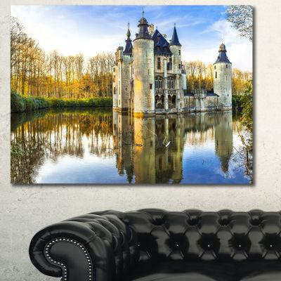 Designart Fairytale Medieval Castles Landscape Canvas Art Print