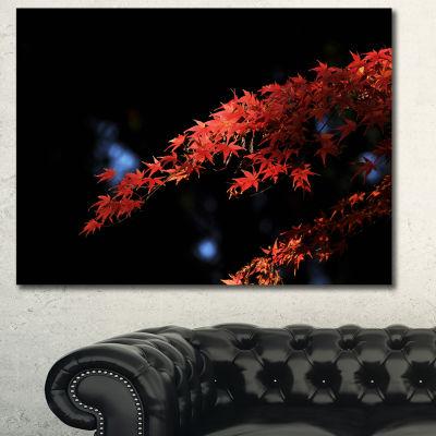 Designart Fall Foliage Of Maple Leaves Abstract Canvas Art Print - 3 Panels