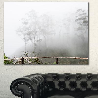 Designart Fogs On Western Ghats Hills Landscape Canvas Art Print - 3 Panels