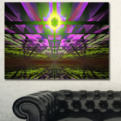 Designart Fractal Cosmic Apocalypse Abstract Art On Canvas - 3 Panels