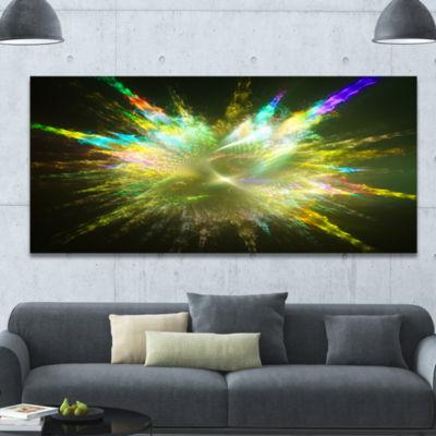 Designart Fractal Explosion Of Paint Drops Abstract Canvas Art Print