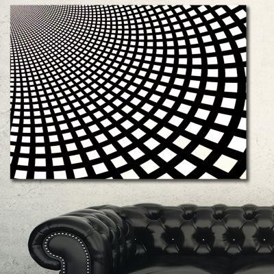 Designart Fractal Square Pixel Mosaic IllustrationAbstract Wall Art Canvas - 3 Panels