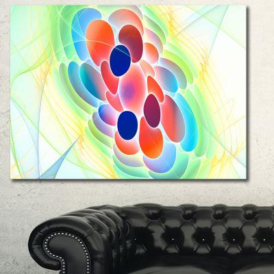Designart Fractal Virus Under Microscope AbstractWall Art Canvas - 3 Panels