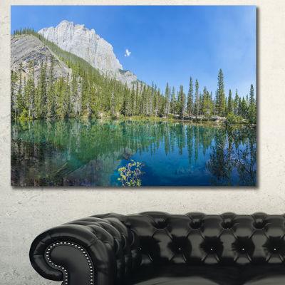 Designart Grassi Lake Canmore Alberta Canada Landscape Canvas Art Print