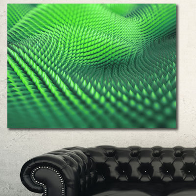 Designart Green 3D Spiny Texture Abstract Canvas Art Print
