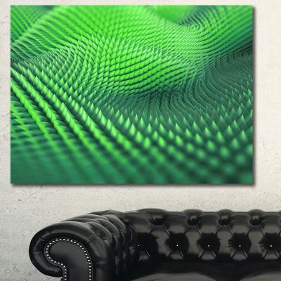 Designart Green 3D Spiny Texture Abstract Canvas Art Print - 3 Panels