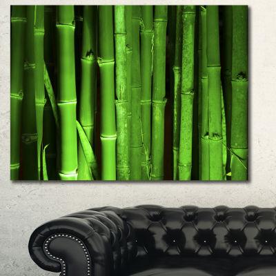 Designart Green Bamboo Forest Floral Canvas Art Print