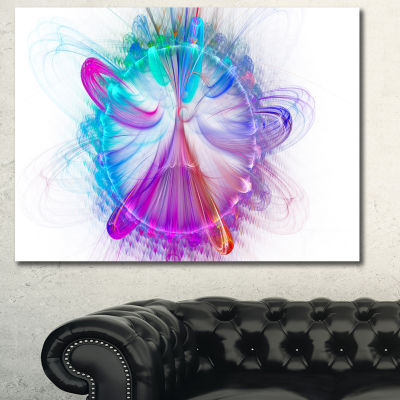 Designart Vortices Of Energy Fractal Pattern Abstract Wall Art Canvas
