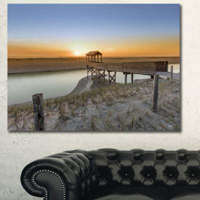Designart Watchtower At North Sea Dunes LandscapeWall Art Canvas