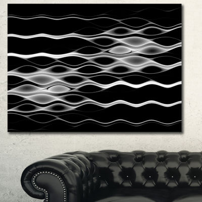 Designart White Waves Fractal Pattern Abstract Wall Art Canvas