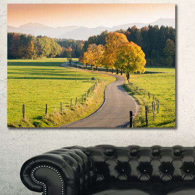 Designart Winding Country Road In The Fall Landscape Wall Art Canvas
