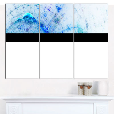 Designart World Bubbles Fractal Pattern Abstract Wall Art Canvas - 3 Panels