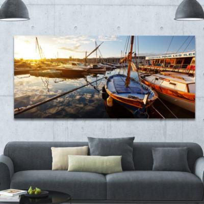 Designart Yachts At Sea Port Of Marseille Boat Wall Art Canvas