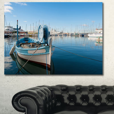 Designart Yachts In Toulon Port France Boat Wall Art Canvas