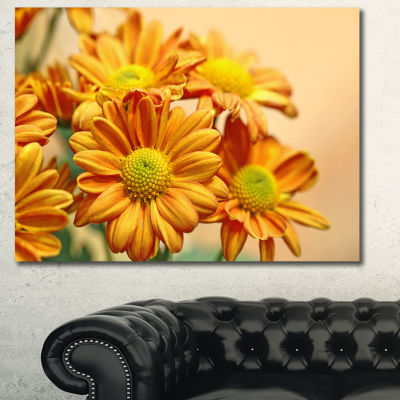 Designart Yellow Flowers In The Garden Floral WallArt Canvas