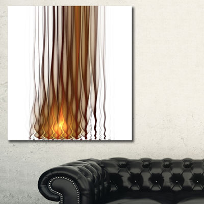 Designart Yellow Fractal Flames Pattern Abstract Art On Canvas