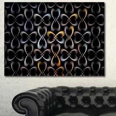 Designart Yellow Pattern Of Butterflies Abstract Wall Art Canvas