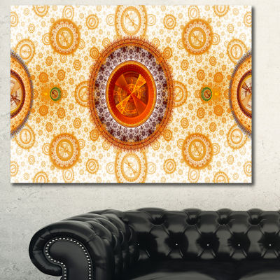 Designart Yellow Psychedelic Relaxing Art AbstractWall Art Canvas