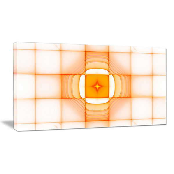 Designart Yellow Thermal Infrared Visor Abstract Wall Art Canvas